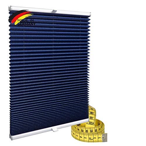 Gardinen21 Plisseerollo ohne Bohren | Plissee-Klemmfix | Plissee 80x100 für Türen & Fenster | Sonnenschutz, Sichtschutz für Fenster, Blickdichte Rollos