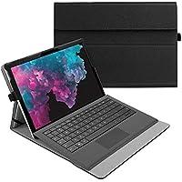 Fintie Funda para Microsoft Surface Pro 7 (2019)/Pro 6 (2018)/Pro 5/Pro 4/Pro 3 - Múltiples Ángulos Carcasa Función de Soporte Compatible con Teclado Type Cover(Teclado No Incluido), Negro