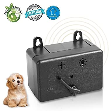 KIKIPET Upgraded Ultrasonic Dog Bark Control Device Mini Anti Barking Device Stop Barking Dog Repeller Sonic Bark Deterrents Silencer No Bark Box Safe Dogs Indoor/Outdoor Use,Up to 50 Feet Range