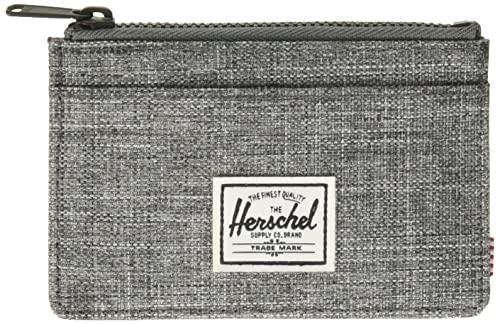 Herschel Oscar RFID Monedero con Cremallera, Cuervo con Forma de Cruz, Talla única para Hombre