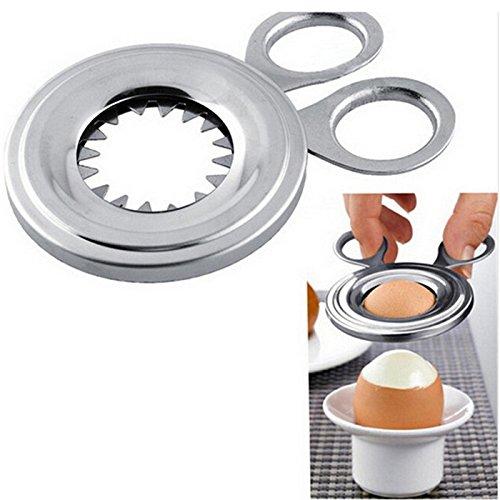 HiCollie エッグカッター 卵割り器 殻剥き器 卵オープナー キッチンはさみ ステンレス エッグシェルカッター 卵専用