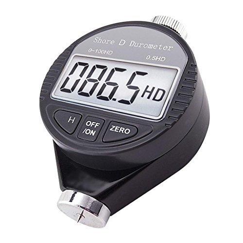 Digital-Shore-D-Meter 0 bis 100 Hd Durometer Harte Härte Gummi und Kunststoffe wie Thermokunststoffe, Fußböden und Bowlingkugeln