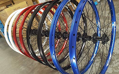 Halo T2 Disc Wheels (PAIR) Shimano M475 Disc Hubs Mountain Bike Wheelset 26' (Free UK Postage) (Blue)