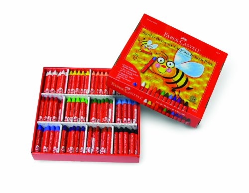 Faber-Castell Beeswax Crayons School Pack, 240 Jumbo Crayons - Art Tools for Education and Classroom