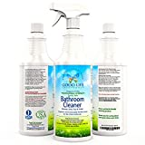 Bathroom Cleaner, Shower, Sink, Toilet- Eco-Friendly, Non-Acid, Non-Abrasive , Plant-Based, Whole Bathroom Cleaner For Hard Water Stains, Soap Scum, Tub Ring, Dirt Build-Up and Tough Stains. 1-(32oz Spray Bottle)
