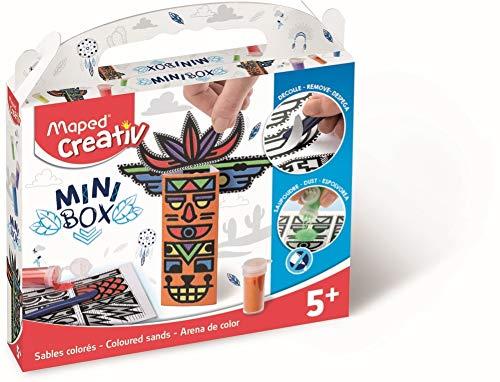 Maped Creativ - Kit Créations en Sable coloré Thème Totems - Loisirs Créatifs Enfants