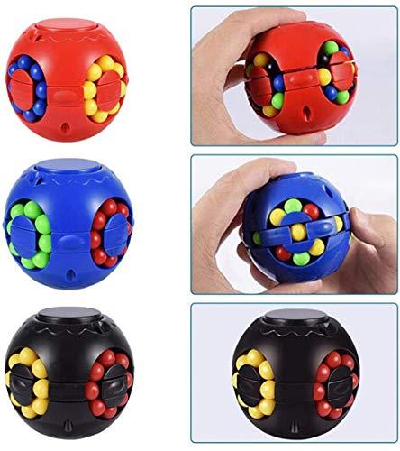 Soudream Cubo De Descompresión Magic Bean Gyroscope Puzzle Cube Gyroscope, Creative Fingertip Gyro Cube Toy, Magic Cube Toy Puzzle Juego para Niños Y Adultos, Niño, Niña