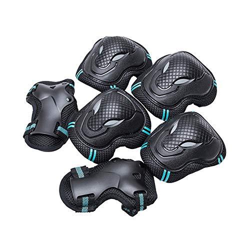 Children's Roller Skating Protective Gear Complete Patinaje de rodillos para niños Patinaje de rodillo de rodillo de patinaje Patinaje de patinaje Pasteleras de rodilla y protectores de muñeca Conjunt