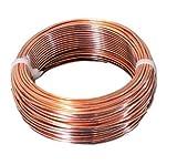 10 AWG Bare Copper Wire 25 Ft (Half Hard) Coil Single Solid Copper Wire 99.9% Pure
