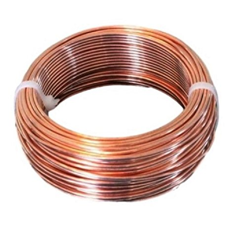 10 AWG Bare Copper Wire 25 Ft (Half Hard) Coil Single Solid Copper Wire 99.9% Pure