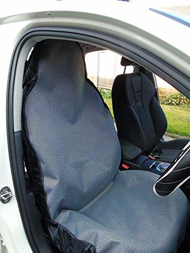 r - Adecuado para coche Citroen C-Zero, fundas de asiento, color gris plateado