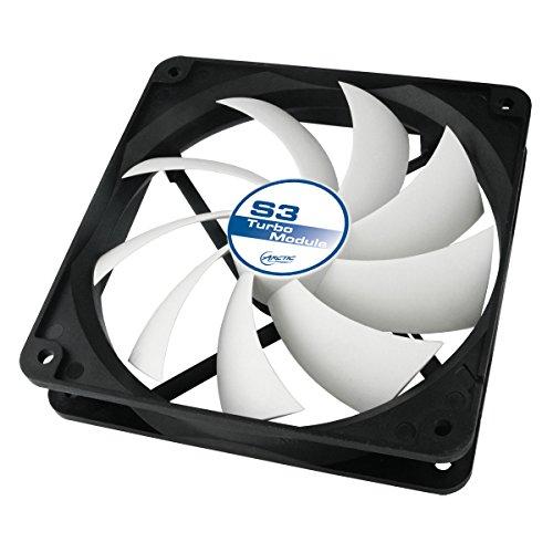 Arctic S3 Turbo - Ventilador de PC (Ventilador, Tarjeta de Video, 120 x 120 x 25 mm, 105 x 105 mm, Negro, Color Blanco, 7-12)