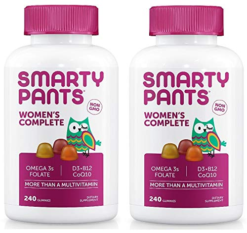 SmartyPants Women's Formula Gummy Multivitamins: Vitamin C, D3, and Zinc for Immunity, Biotin for Hair, Skin & Nails, Omega 3 Fish Oil, CoQ10 for Heart Health, Methyl B12, 480 Count (80 Day Supply)