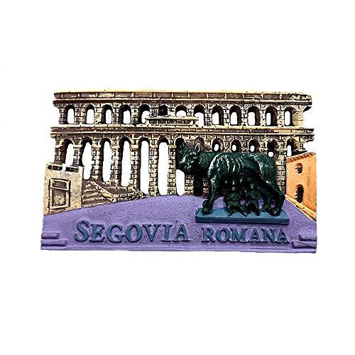 Segovia España imán para nevera 3D de recuerdo de colección de regalo para el hogar y la cocina