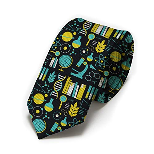 Men Novelty Neckties Suit Accessories - Science Math Physical Chemical Biology Tie for Weeding Prom Reception, Party,School for Boys Teens