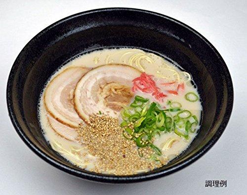 博多の老舗製麺所が作る 博多 とんこつラーメン (半生めん)  4食 (濃縮スープ、ネギ、ごま付き)