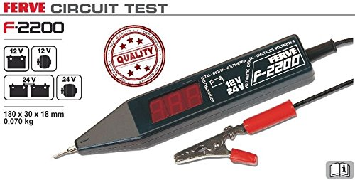 Ferve - Digital Voltmeter 12 24V F2200, Color 0