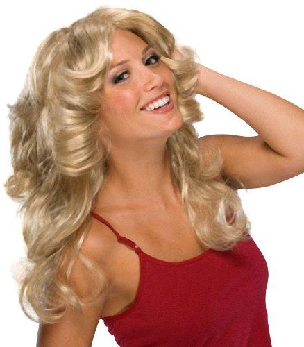 Women's 70s Voluminous Blonde Fashion Wig - One Size