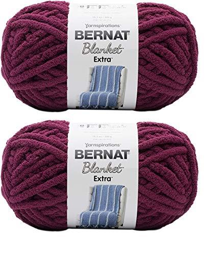 manta burdeos de la marca Bernat Yarn