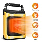 Electric Space Heater - Portable Heater 1500W with Adjustable Thermostat, Fan...