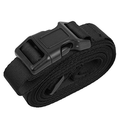 DyniLao Hebilla de liberación rápida Maleta de equipaje Correa de cinturón de equipaje 10 pies Negro
