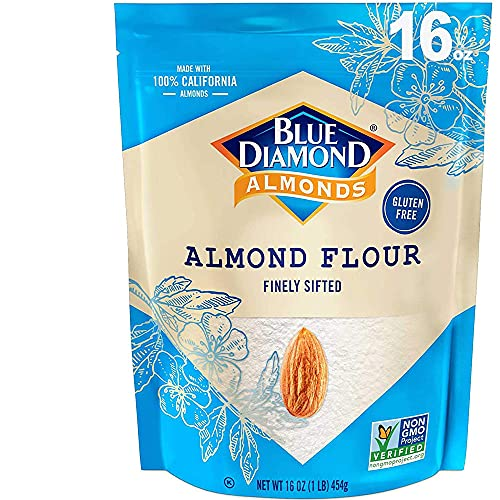 Blue Diamond Almonds, Almond Flour, Gluten Free, Blanched, Finely Sifted, 1 Lb