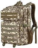 YOREPEK Groß Militär Rucksäcke Herren, 45L Armee Rucksack Taktischer Rucksack Molle Assault Backpack für Camping Wandern Trekking Jagd und Outdoor Aktivitäten - Tarnung