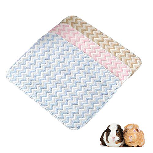 RIOUSSI 19' x 27' Guinea Pig Bedding, Highly Absorbent Washable Guinea Pig Cage Liners with Leak-Proof Bottom. L, 3 Pack.