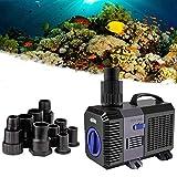 YAOBLUESEA Eco Teichpumpe Filterpumpe Bachlaufpumpe 5200L/H 40W Energiespar Wasserpumpe Koiteich Bachlaufpumpe SunSun CTP-5800