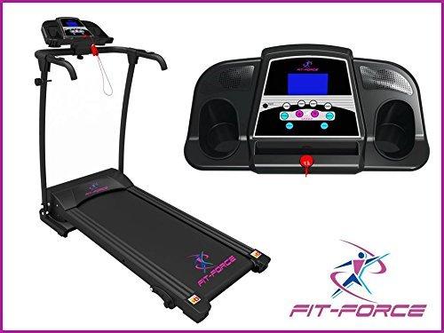 FIT-FORCE Cinta de Correr Plegable 1500W 0-14 kmph Entrada MP3 y Dos Altavoces sujeta iPad