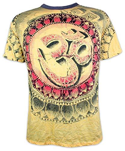 Weed Herren T-Shirt - Heiliges Om Zeichen Hippie Yoga Aum Indien Yoga Buddha Yogi Buddhismus Hinduismus Indien Ärmelfrei Männer Freizeit Kurzarm...