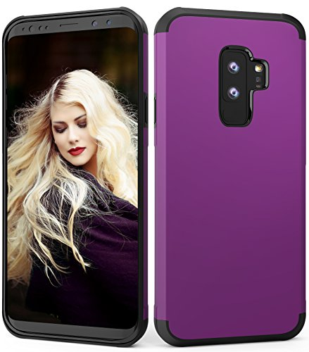 Galaxy S9 Plus Case,ADCOOG Dual Layer Hybrid Sturdy Anti-Shock Cover High Impact Resistant Protective Case for Samsung Galaxy S9 Plus 2018 Purple