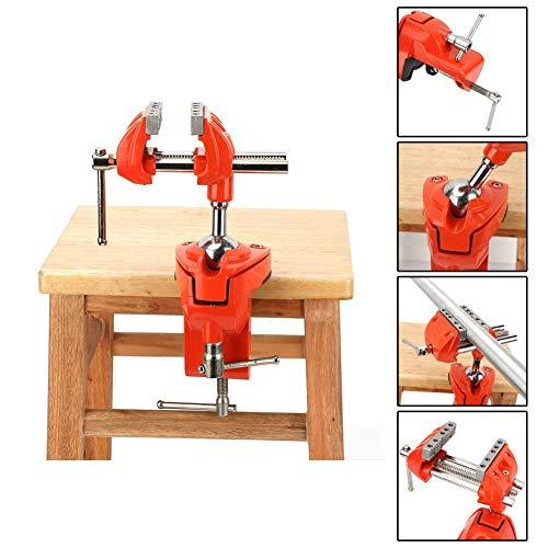Klemmschraubstock, Mini 360 ° drehbarer Klemmschraubstock Einstellbare 70 mm Backenbreite Tischschraubstock Tischklemme Handwerkzeug für Werkbankholzarbeiten