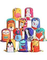 Zaino con Coulisse Bambini 12 Pezzi,Sportiva sacche Sacche da Palestra Drawstring Bag Sacchetto del per Bambini Festa di Compleanno