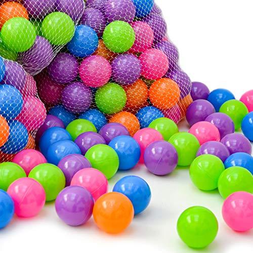 LittleTom 300 Baby ballenbak ballen - 6cm ballenbad speelballen voor kinderen vanaf 0 jaar Pastel