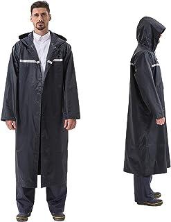 Pahajim Long Rain Coats Reusable Rain Ponchos Heavy Duty Raincoats Large Trench Rain Coat for Men Women Waterproof with Hood