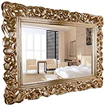 HUIHUOZI Exquisite Goods European Bathroom Mirror Wall Mounted Bathroom Mirror Hotel Decorative Mirror Bathroom Fitting Mi...
