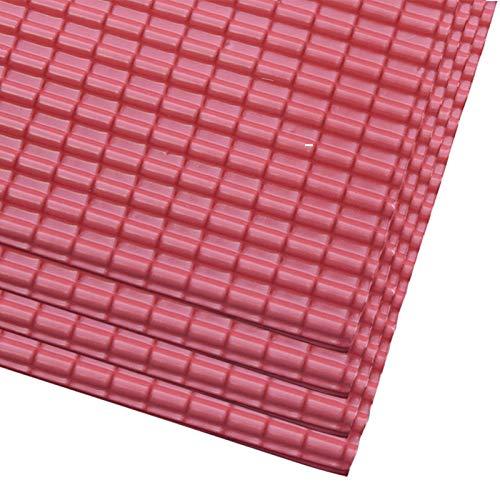 KOET Modell-Dachziegel, 4 Stück PVC-Miniatur-Dachziegel für Mini-Puppenhaus-Bauset für Sandtisch-Szenen, Designmodelle