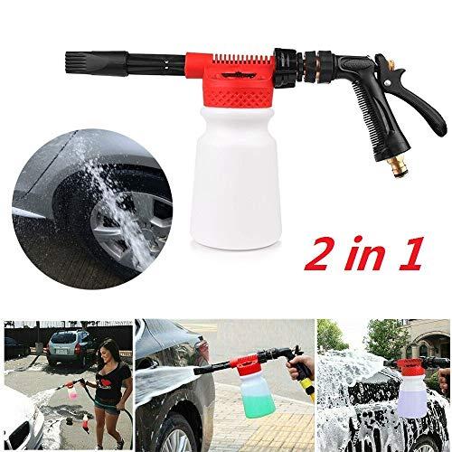 Hogedruk Sneeuwschuimer Waterpistool, Auto Waskanon Water Zeep Foamaster Nozzle, Water Zeep Shampoo Sproeier voor Home Garden Watering