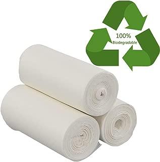 Doryh 100% Compost Trash Bags, 3 Gallon Food Scrap Bags, 105 Counts/3 Rolls