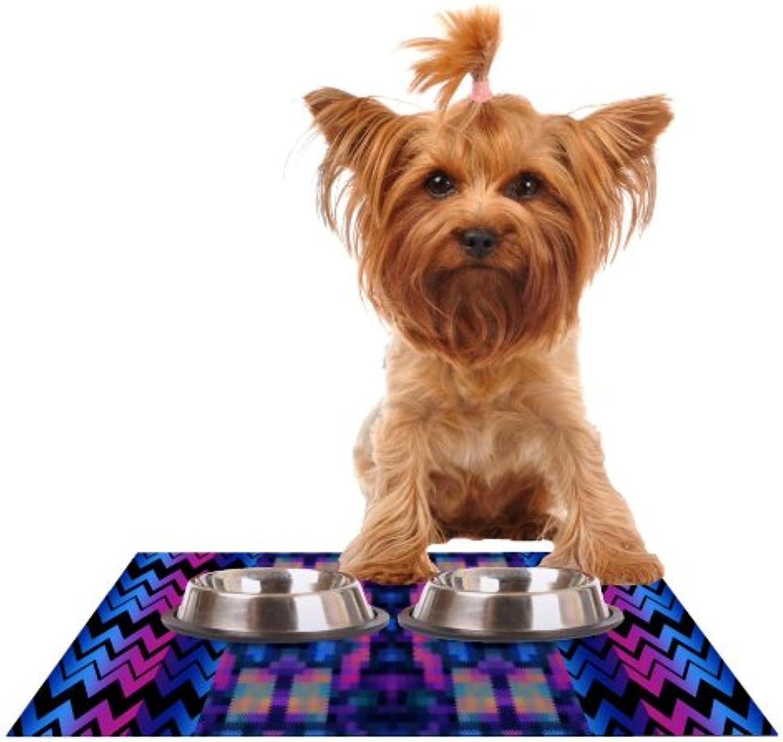 Kess InHouse Nina May Skya  Feeding Mat for Pet Bowl, 24 by 15Inch