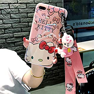 Twinlight Cute Stitch Pooh Pig Mickey Minnie Mouse Hello Kitty Phone Cases for iPhone 7 8 Plus XS MAX XR X Cartoon Case+ Toy +Strap (Style2, for iPhone XR)