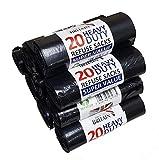 200 Medium Duty Black Refuse Sacks Rubbish Bags Bin Liners Large