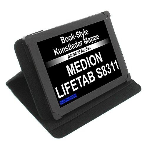 foto-kontor Tasche für Medion LifeTab S8311 Lifetab P8312 LifeTab P8314 Lifetab P8502 Book Style Schutz Hülle Buch