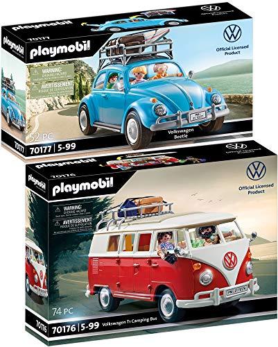 PLAYMOBIL® Volkswagen 2er Set 70176 70177 2er Set VW T1 Camping Bus + VW Käfer