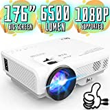 6500Lumens Portable Projector for Home Theater Entertainment, Full HD 1080P Supported Mini Projector HDMI AV USB Sound Bar Supported