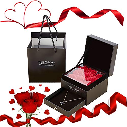 Preserved Rose, Rose Box, Flower Box for Lovers Gift for Her Valentine's Day Mother's Day Christmas Day