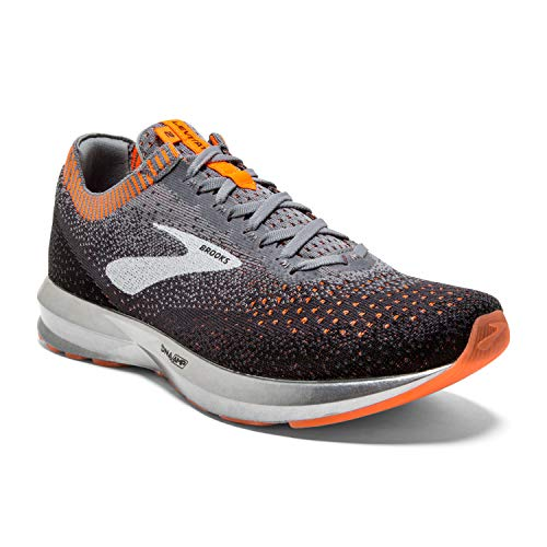 Brooks Mens Levitate 2 Running Shoe - Grey/Black/Orange - D - 13.0