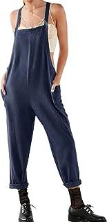 SUMTTER Salopette Donna Estive Jumpsuit Taglie Forti Tuta Corta Tutine con Tasche Button Overall da Spiaggia Vacanza