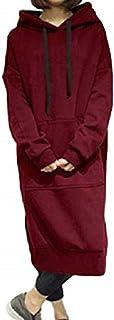 [1/2style(ニブンノイチスタイル)] 長袖 膝丈 ゆったり 可愛い ブラック グレー グリーン フード 付き パーカー ワンピース レディース